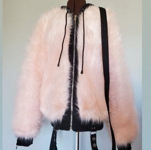 Current Mood Pink Fluff and Bondage Coat